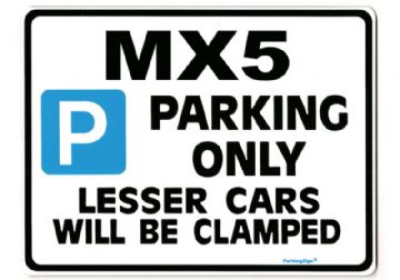 MAZDA MX5 Large Metal Sign for MX-5  EUNOS ROADSTER